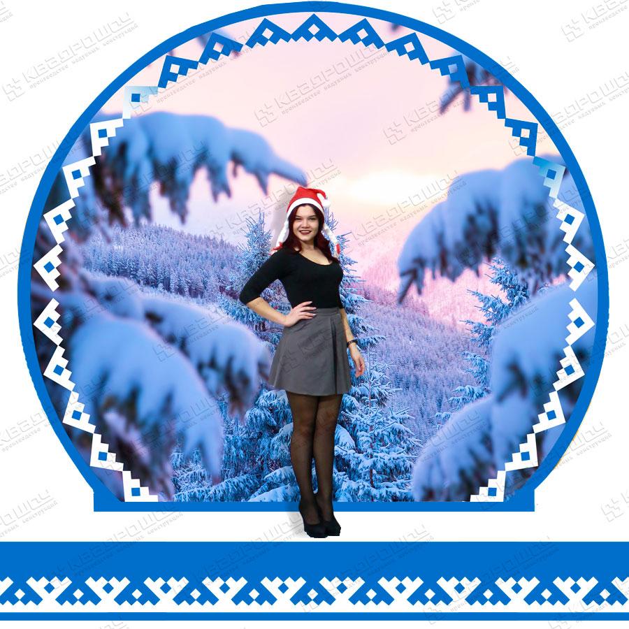Сменный новогодний баннер и юбка вариант 4