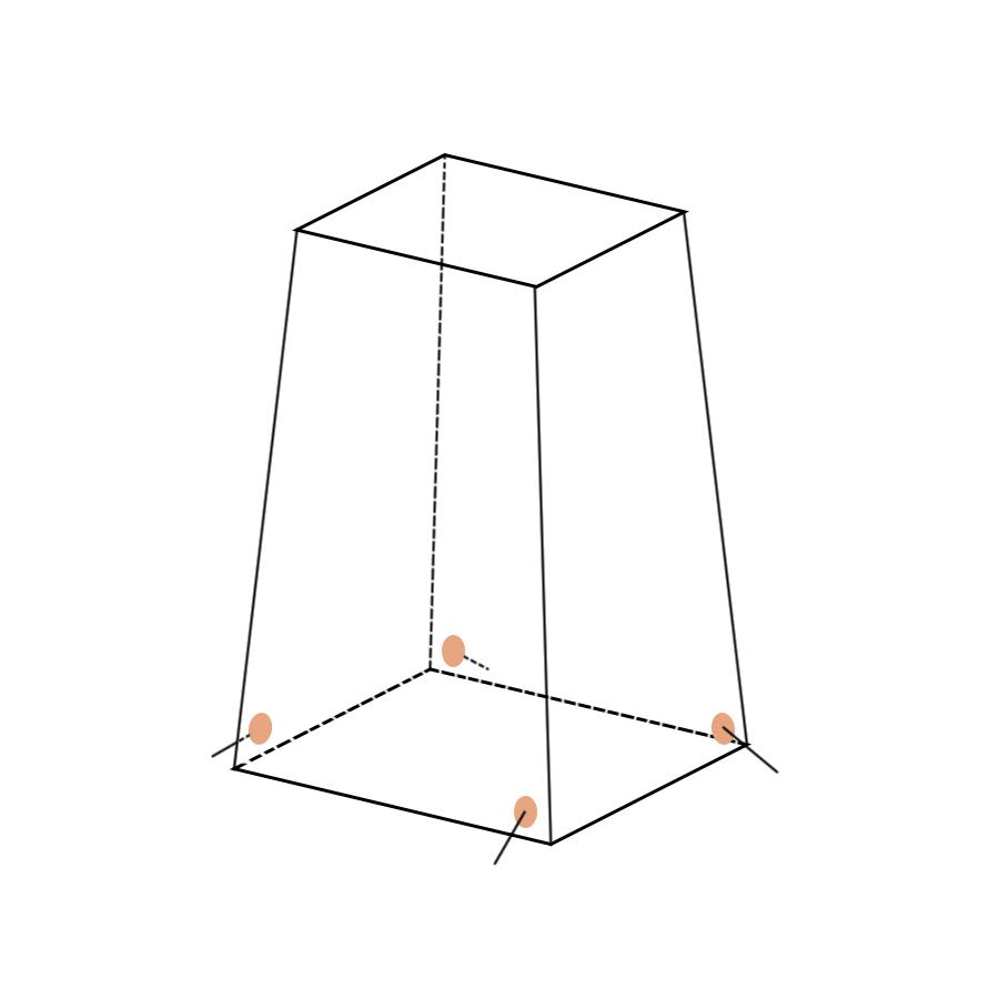 Укрытие для пейнтбола Большая усеченная пирамида
