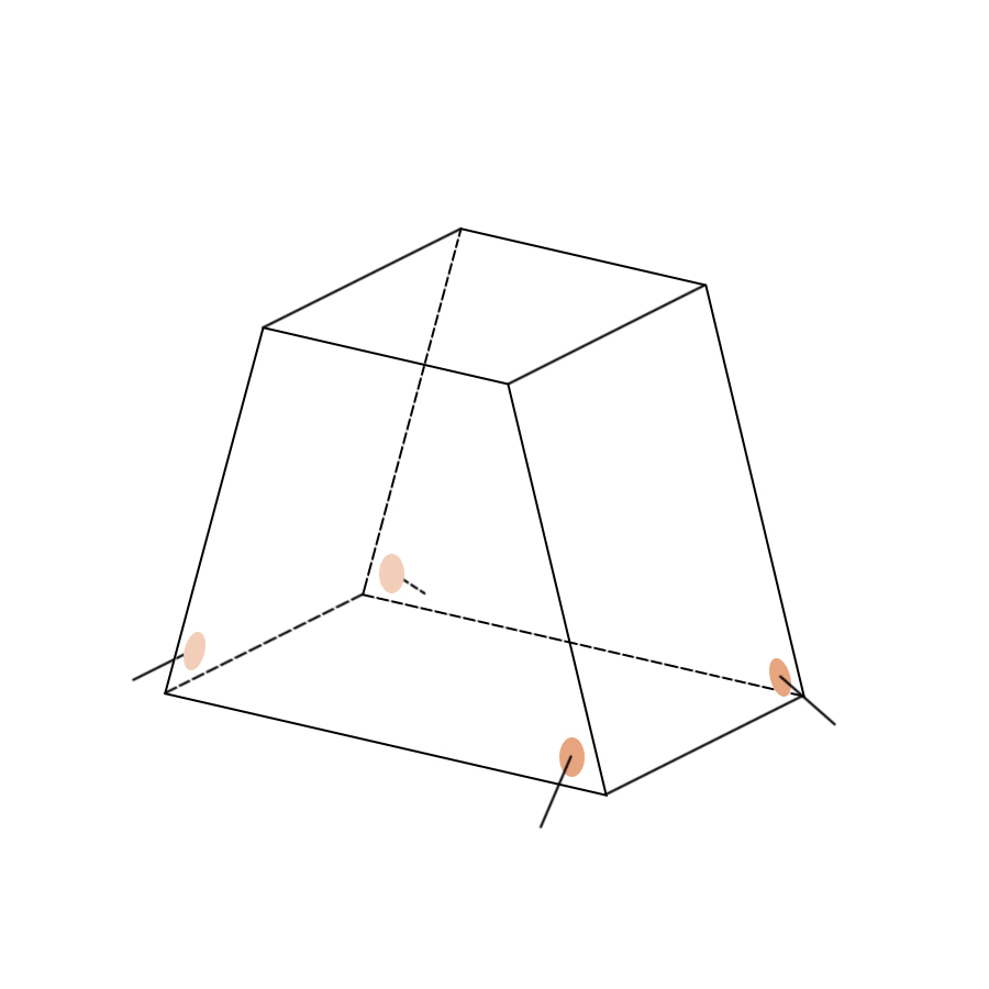 Укрытие для пейнтбола Усеченная пирамида малая