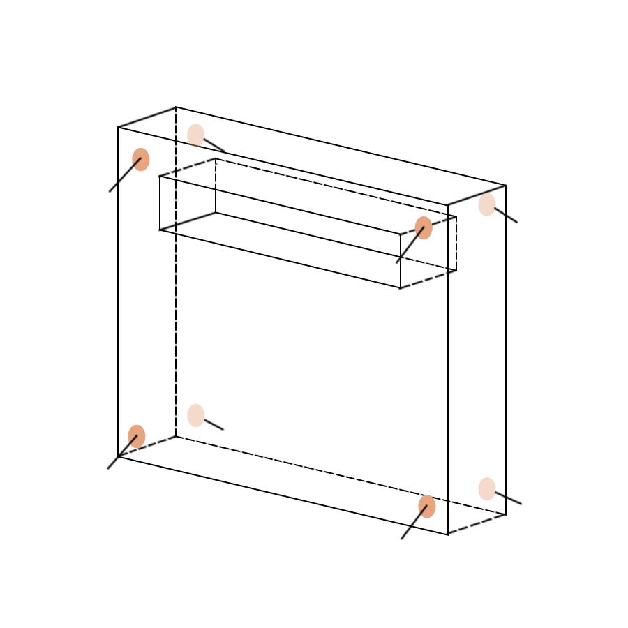 Укрытие для пейнтбола Окно вариант 2