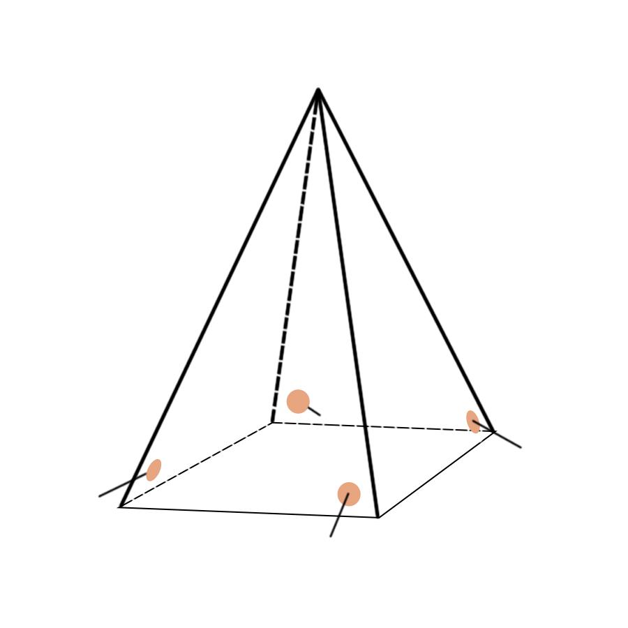 Укрытие для пейнтбола Пирамида большая