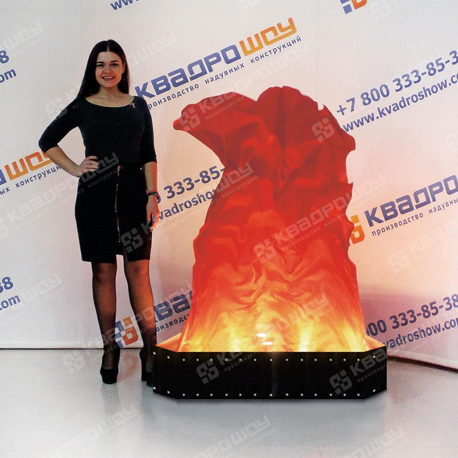Имитация горящего огня 3Д