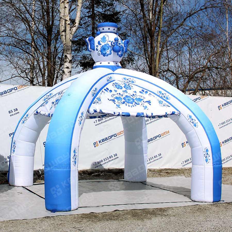 Надувная палатка шатер Гжель