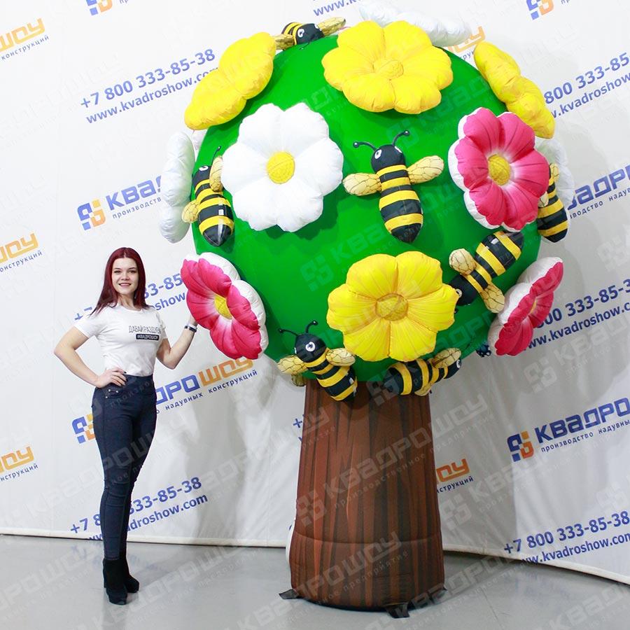 Надувная фигура дерево с цветами и пчёлками