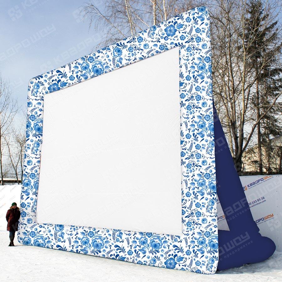 Уличный экран для кинотеатра Гжель