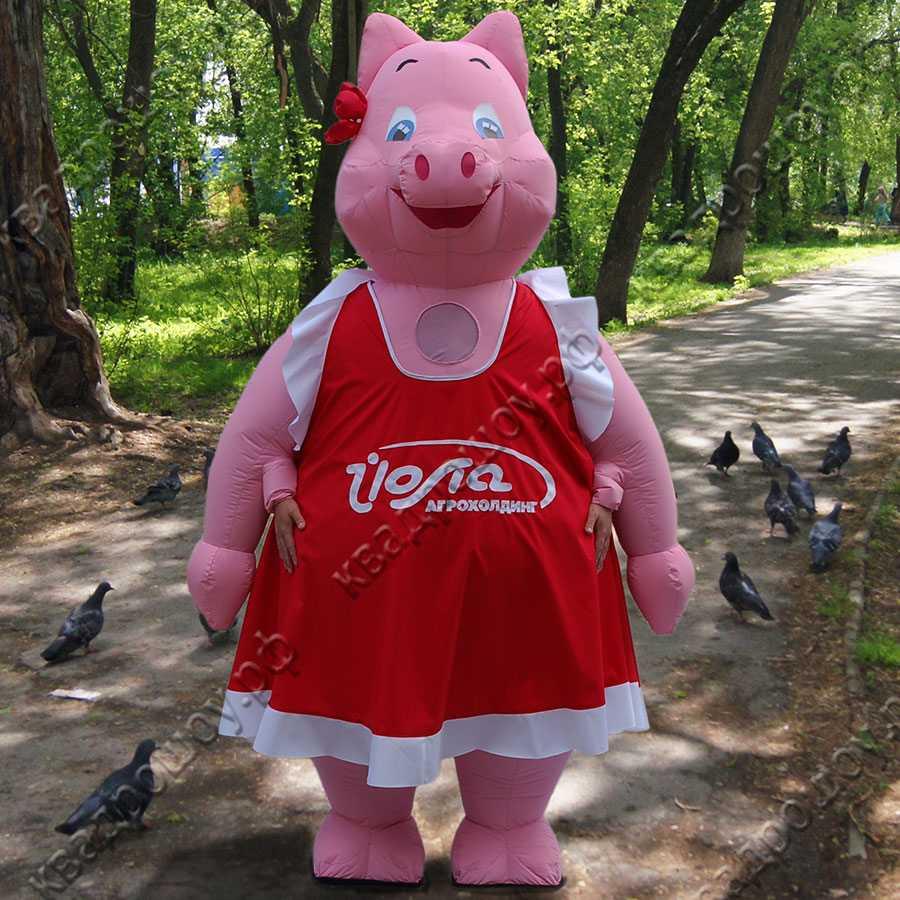 Надувной костюм Свинка в платье