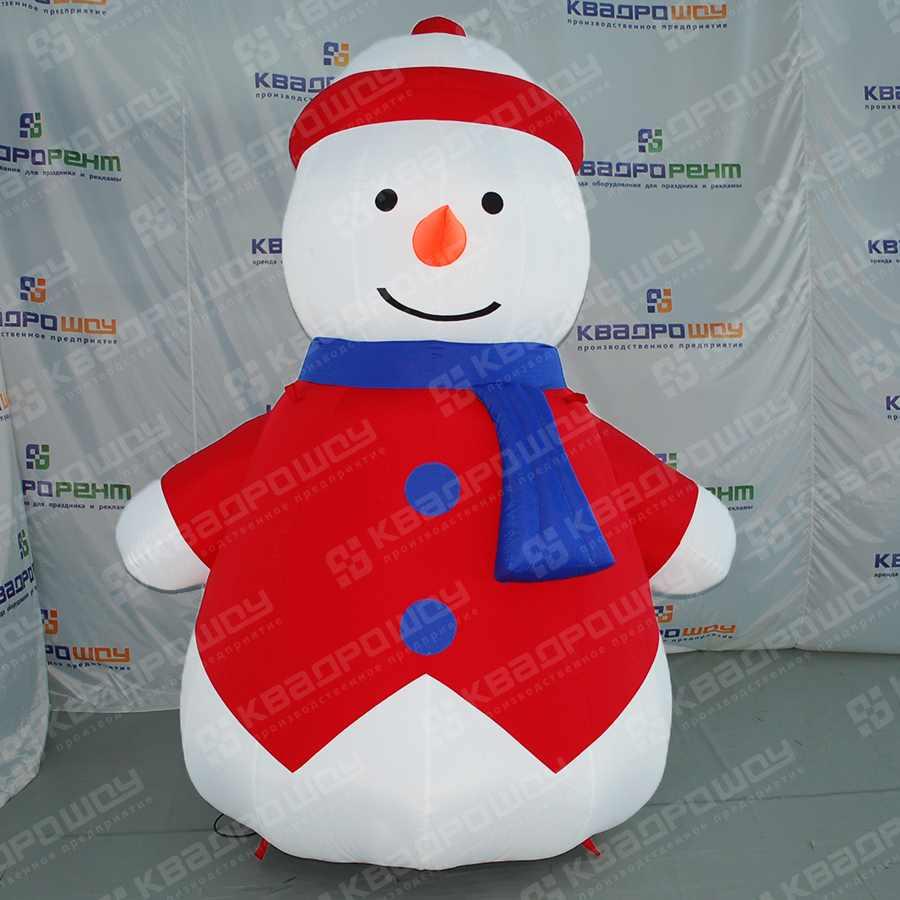 Надувная фигура Снеговик в жилетке