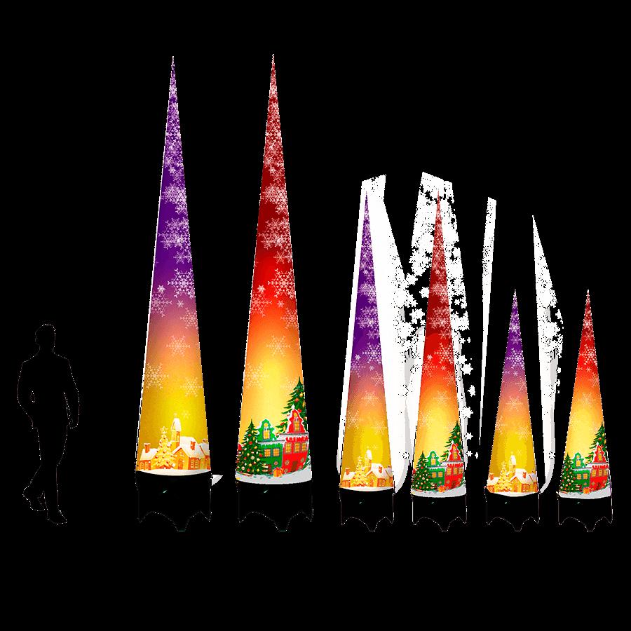 Надувный новогодние конусы