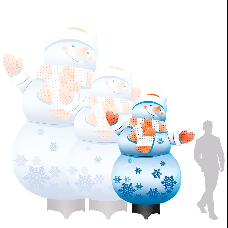 Пневмогирлянда со снежинками на новый год