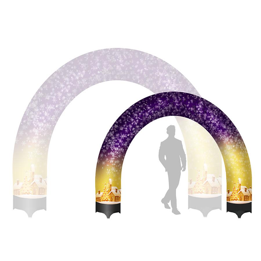 декоративная новогодняя арка