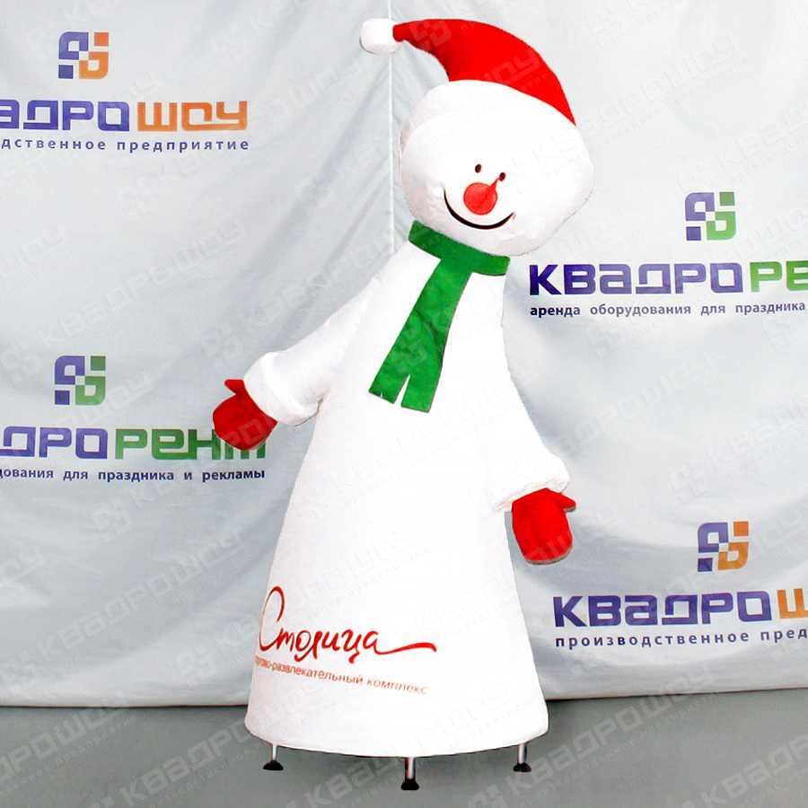Надувная фигура Снеговик конусообразный