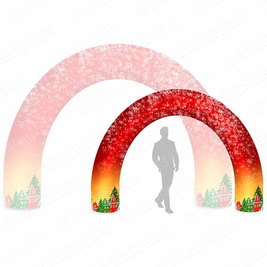 Надувная уличная арка для новогоднего оформления