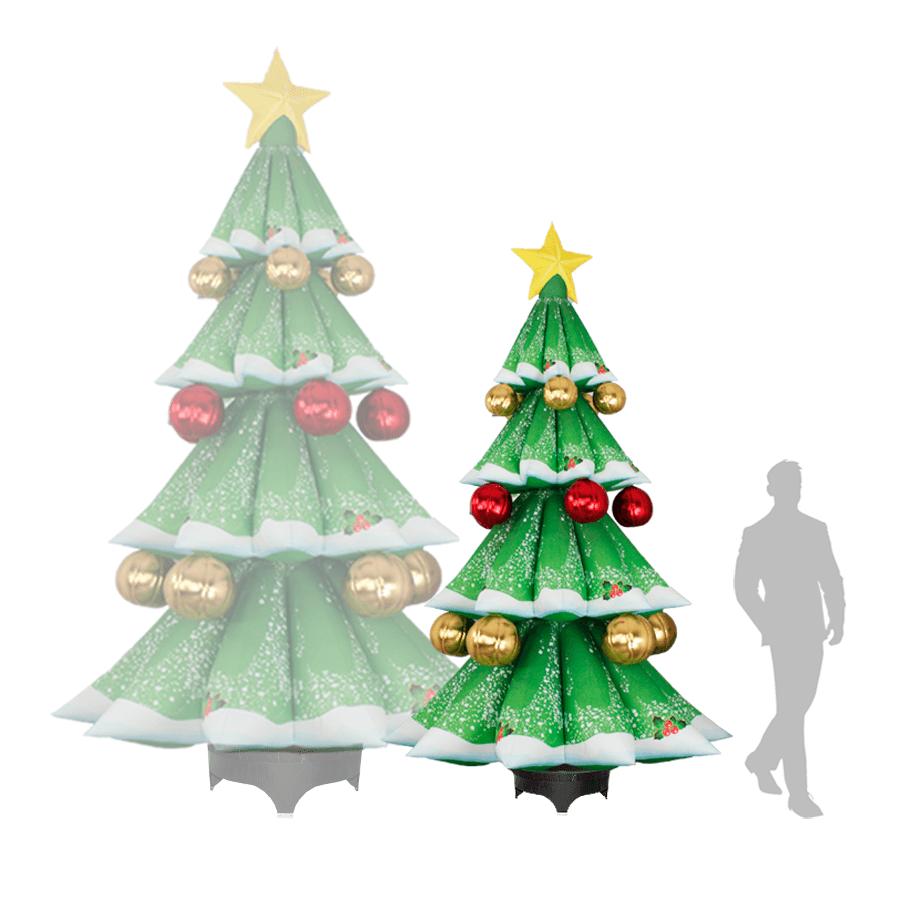Надувная новогодняя ёлка с шарами