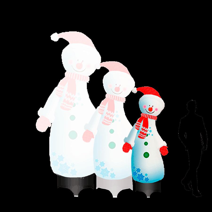 Надувной Снеговик с пуговицами