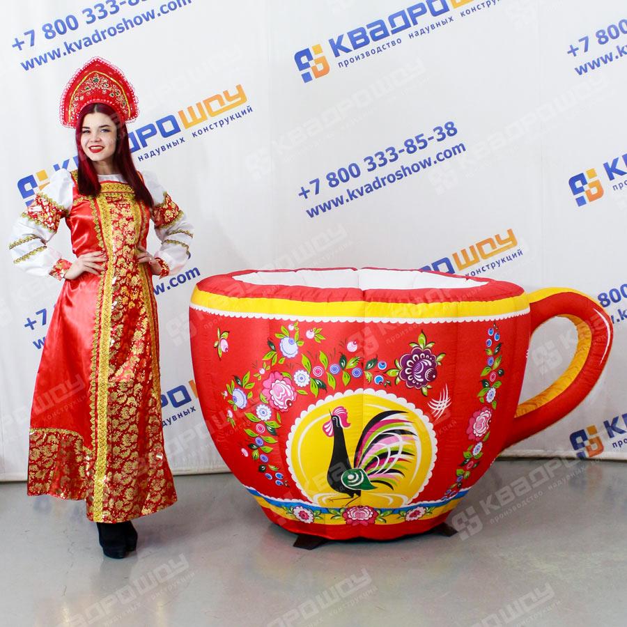 Надувная чашка Городецкая роспись