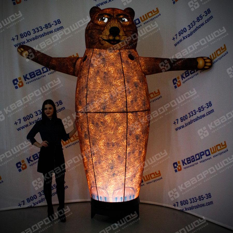 Надувной коричневый Медведь