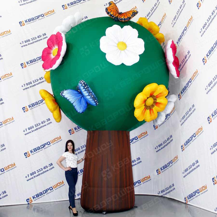 Надувная фигура Дерево с цветами и бабочками