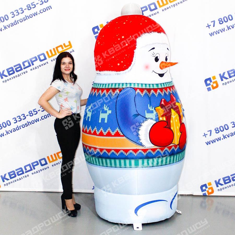 Новогодняя матрёшка Снеговик