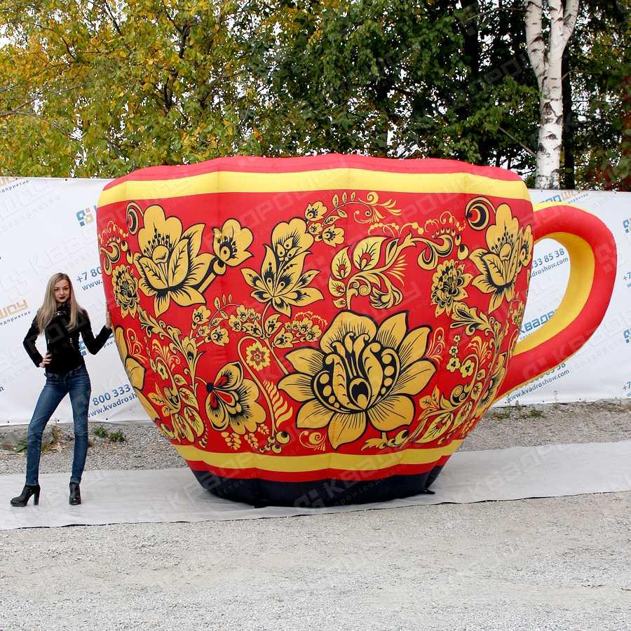Надувная чашка Хохлома