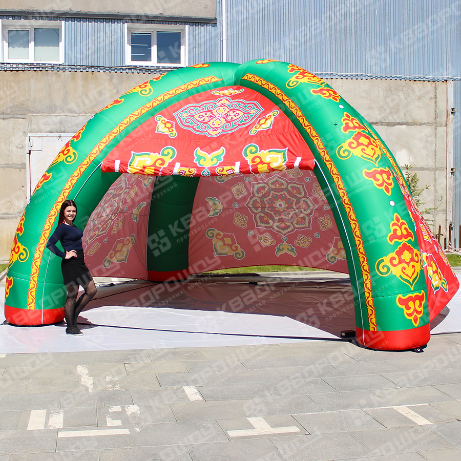 Надувная палатка 4 опорная Сабантуй