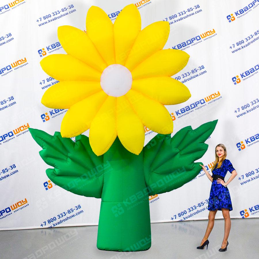 Надувной цветок Хризантема жёлтая