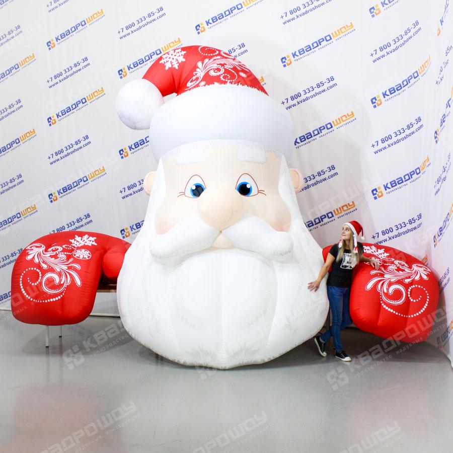 Уличная фигура Дед Мороз на крыше