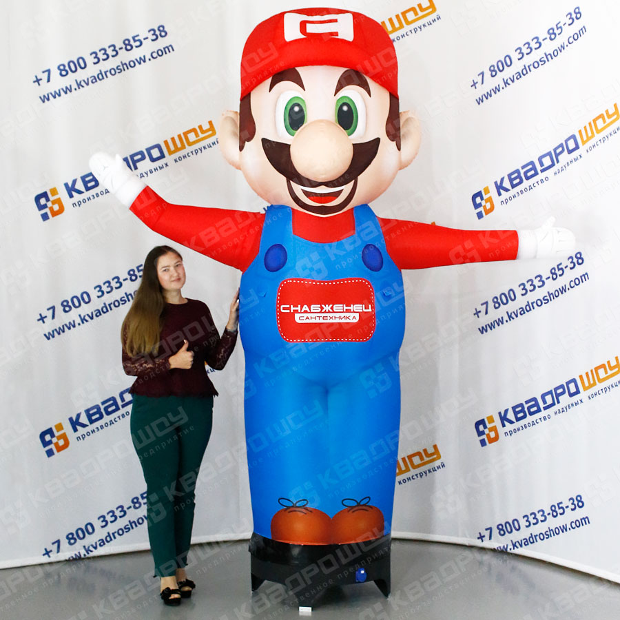 Надувной Марио пневмофигура