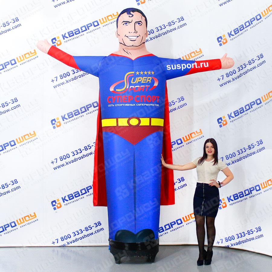 Надувная фигура Супергерой в плаще 3,5 м