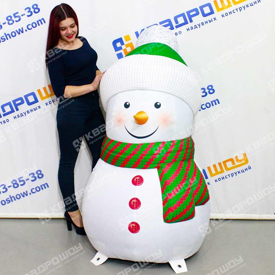 Надувная фигура матрёшка Снеговик