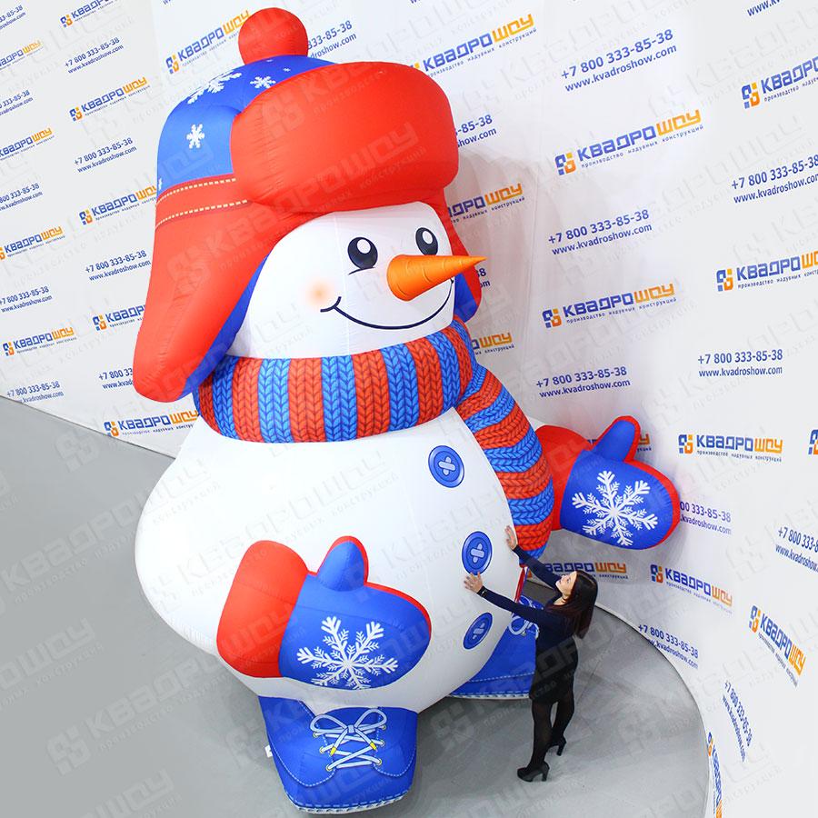 Надувной Снеговик в шапке