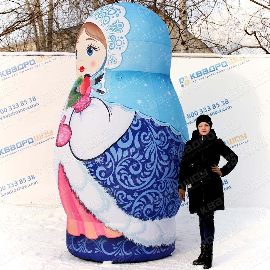 фигура матрёшка Снегурочка