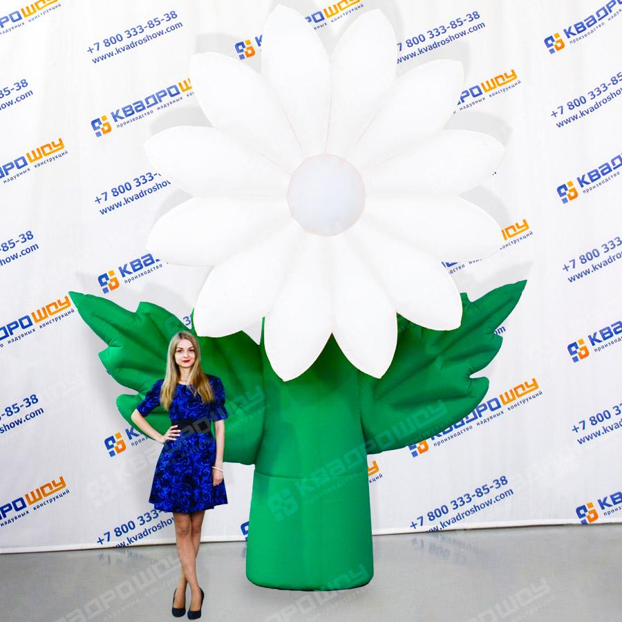 Надувной цветок Хризантема белая