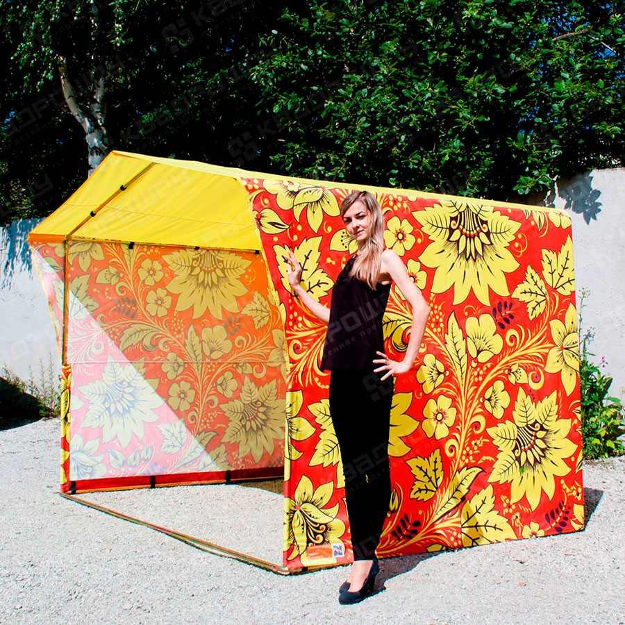 Каркасная палатка Хохлома