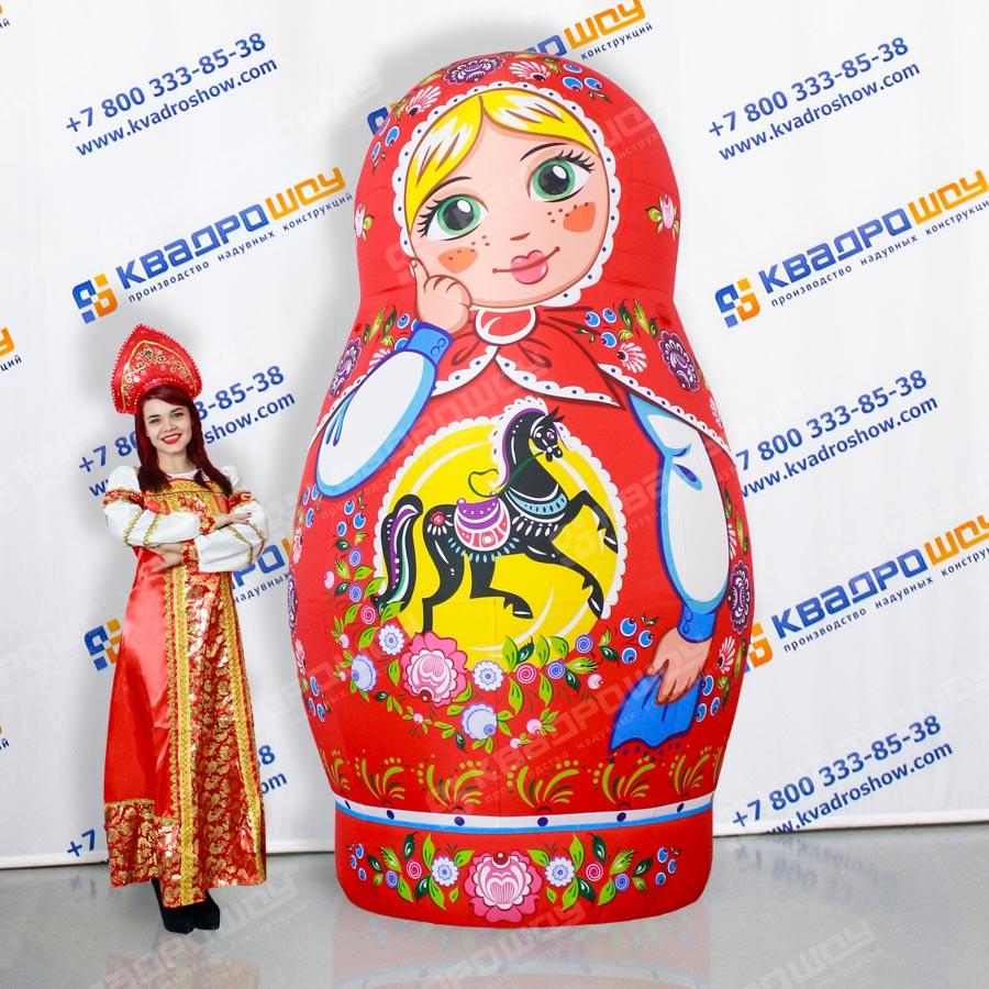 Надувной костюм Матрешка Городецкая неваляшка