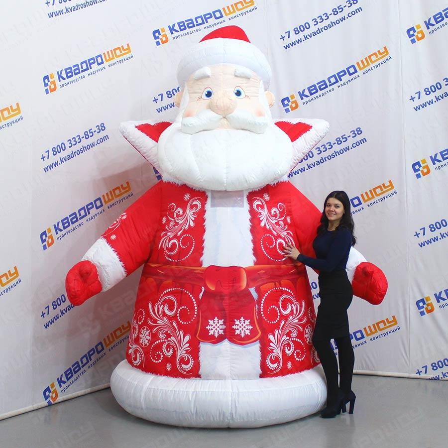 Надувной новогодний костюм Дед Мороз