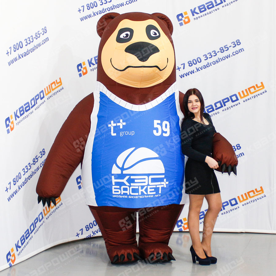 Надувной костюм Медведь в майке