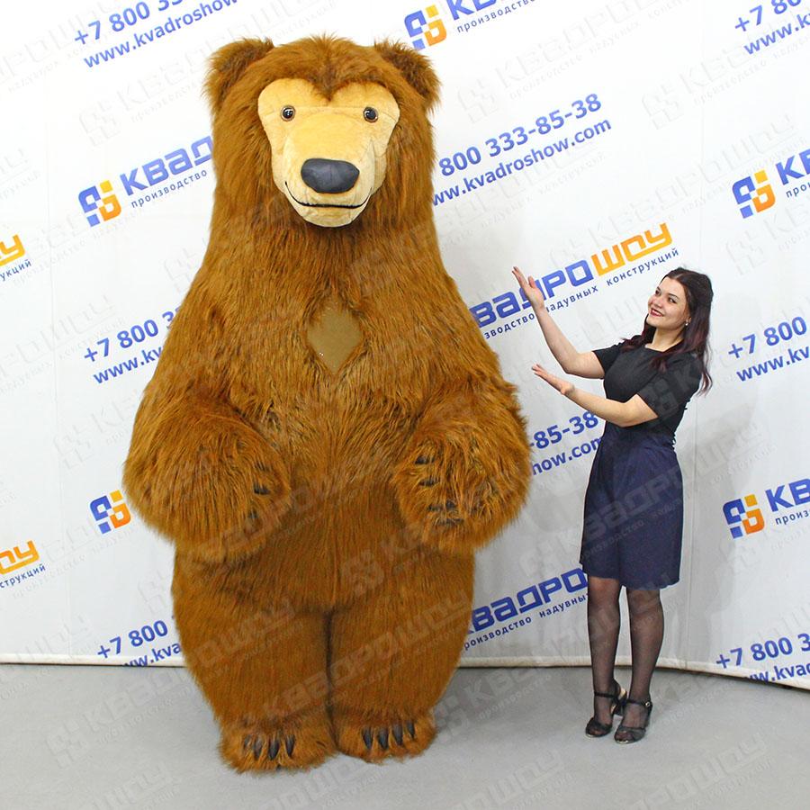 Костюм бурый Медведь длинный мех