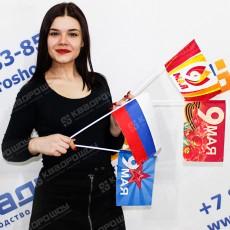 флажки День победы на пластиковой трубочке