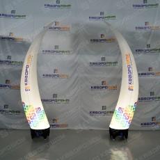 Полуарка из конусов с подсветкой