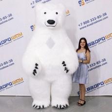 Костюм белый медведь с улыбкой