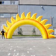 Надувная конструкция арка солнышко