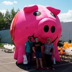 Надувная свинья