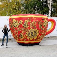 Надувная конструкция чашка хохлома