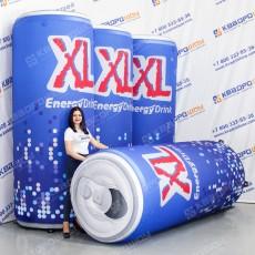 Большая надувная копия напитка в банке XL
