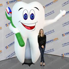 Надувной рекламный Зуб с машущей рукой