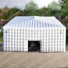 Гигантский надувной шатер Куб белого цвета