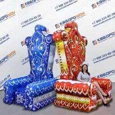 Надувная декорация Трон Деда Мороза