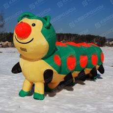 Надувная фигура (ростовая кукла надувная) Гусеница
