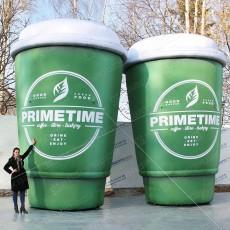 Надувные рекламные кружки кофе