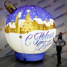 Новогоднее украшение шар с подсветкой